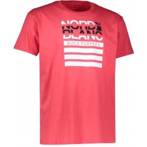 Pánské triko NORDBLANC BUCK NBFMT6542 JAHODOVÁ ČERVENÁ