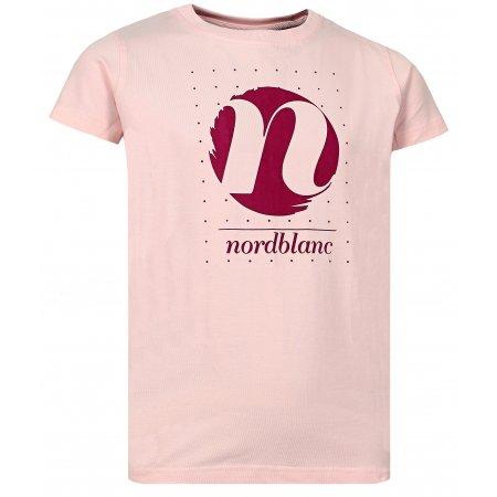 Dívčí tričko NORDBLANC SPIN NBFKT6575L SVĚTLE RŮŽOVÁ