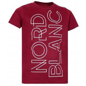 Chlapecké tričko NORDBLANC FRAME NBFKT6572S HLUBOCE ČERVENÁ