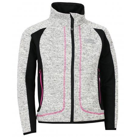 Dívčí sportovní svetr NORDBLANC NEEDY NBWFK6584L KRÉMOVĚ BÍLÁ
