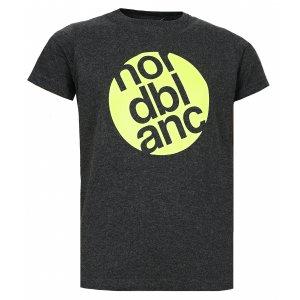 Chlapecké tričko NORDBLANC DOT NBFKT6571S GRAFITOVÝ MELÍR