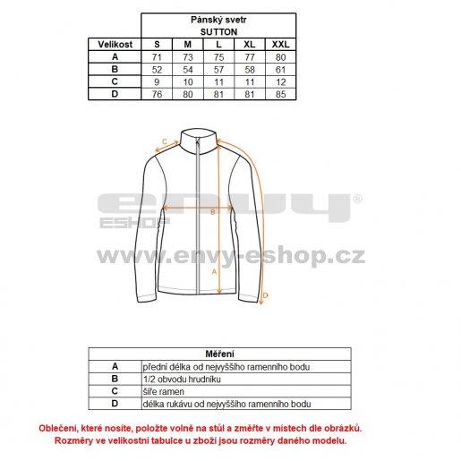 Pánský svetr ALPINE PRO SUTTON MPLK033 TMAVĚ MODRÁ