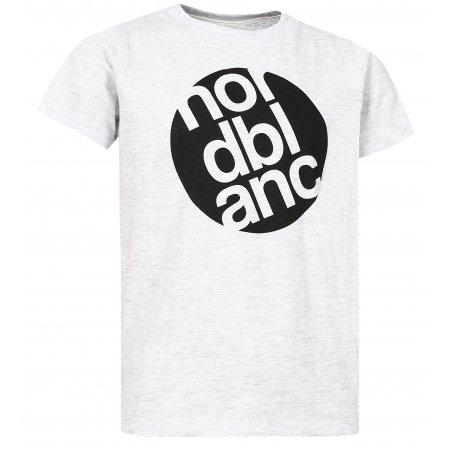 Chlapecké tričko NORDBLANC DOT NBFKT6571S SVĚTLE ŠEDÝ MELÍR