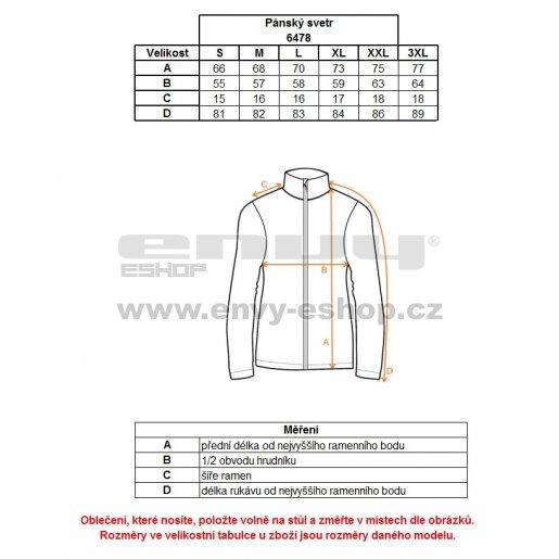 Pánský sportovní svetr NORDBLANC TAME NBWFM6478 TYRKYSOVÁ