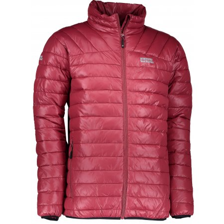 Pánská zimní bunda NORDBLANC CACHE NBWJM6411 HLUBOCE ČERVENÁ