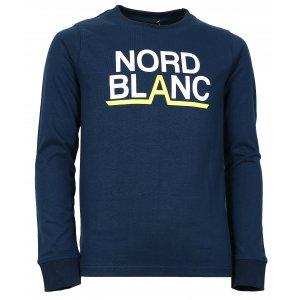 Chlapecké tričko NORDBLANC BALK NBFKT6570L TEMNÁ MODRÁ