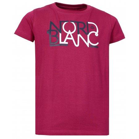 Dívčí tričko NORDBLANC THREAD NBFKT6574L ČERVENÁ MALINA