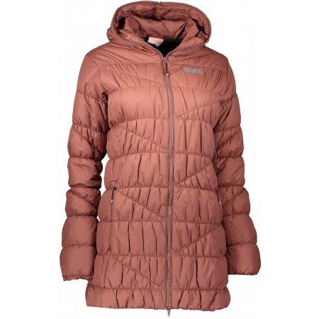 Dámský zimní kabát NORDBLANC TINT NBWJL6428 SKOŘICOVĚ HNĚDÁ