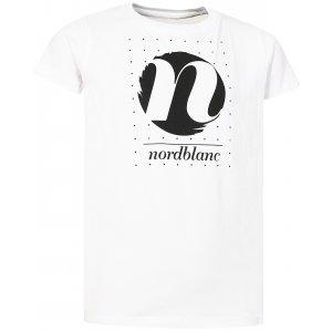Dívčí tričko NORDBLANC SPIN NBFKT6575L BÍLÁ