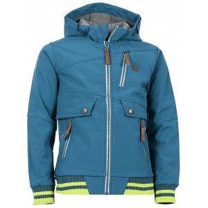 Chlapecká softshellová bunda NORDBLANC BEAU NBWSK6586L BAKOVA MODRÁ