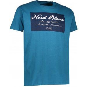 Pánské triko NORDBLANC UNIQUE NBFMT6549 BAKOVA MODRÁ