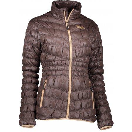 Dámská zimní bunda NORDBLANC SAVOR NBWJL6430 TEMNĚ HNĚDÁ