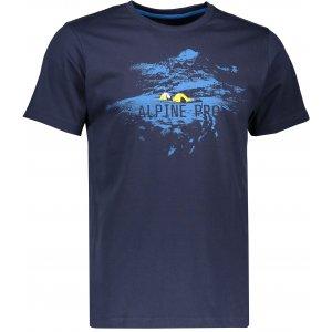 Pánské triko s krátkým rukávem ALPINE PRO UNEG 4 MTSK217 TMAVĚ MODRÁ