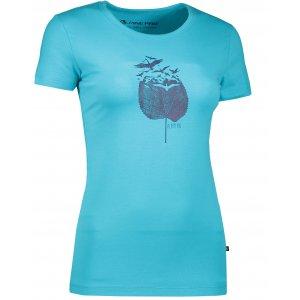Dámské triko s krátkým rukávem ALPINE PRO UNEGA 3 LTSK224 MODRÁ