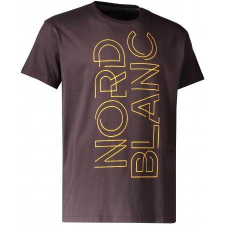 Pánské triko NORDBLANC TITLE NBFMT6546 TEMNĚ HNĚDÁ
