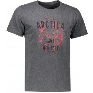 Pánské triko s krátkým rukávem ALPINE PRO TIBERIO 5 MTSK222 SVĚTLE ŠEDÁ