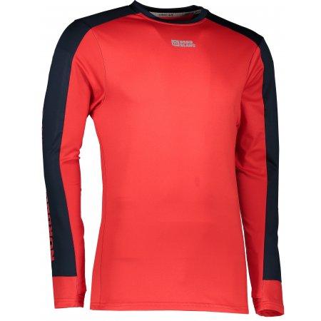 Pánské tričko s dlouhým rukávem NORDBLANC SLING NBFMF5893 ČERVENÁ