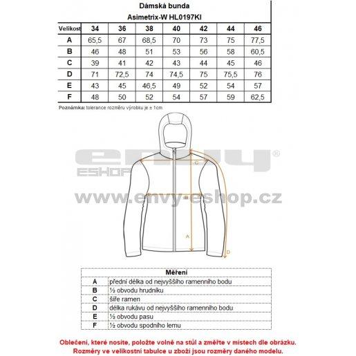 Dámská zimní bunda KILPI ASIMETRIX-W HL0197KI TMAVĚ MODRÁ