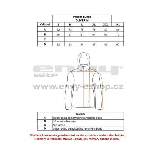 Pánská zimní bunda KILPI OLIVER-M HM0076KI SVĚTLE ŠEDÁ