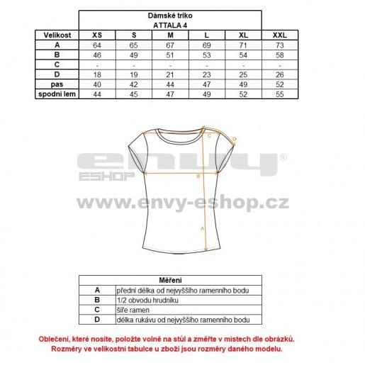Dámské tričko s krátkým rukávem ALPINE PRO ATTALA 4 LTSL282 MODRÁ