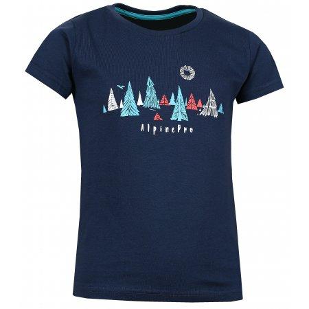 Dětské triko s krátkým rukávem ALPINE PRO DAYO KTSL098 TMAVĚ MODRÁ
