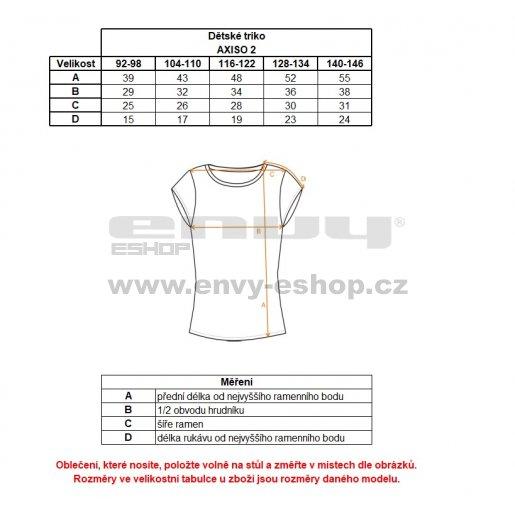 Dětské triko s krátkým rukávem ALPINE PRO AXISO 2 KTSL097 MODRÁ