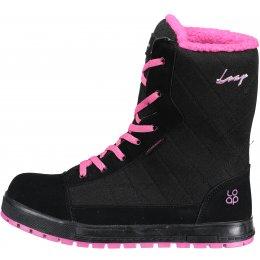 Dámské zimní boty LOAP ROSARIA SBL1754 ČERNORŮŽOVÁ