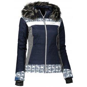 Dámská zimní bunda KILPI LEDA-W HL0003KI TMAVĚ MODRÁ