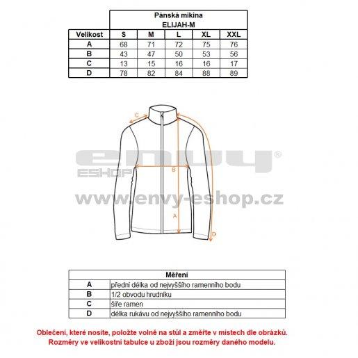 Pánská funkční mikina KILPI ELIJAH-M HM0072KI TMAVĚ MODRÁ