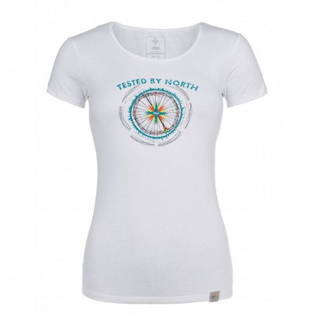 Dámské tričko s krátkým rukávem KILPI CAMI-W HL0165KI BÍLÁ