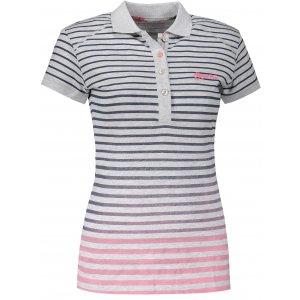 Dámské triko s límečkem ALPINE PRO HEIKA LTSL286 SVĚTLE ŠEDÁ