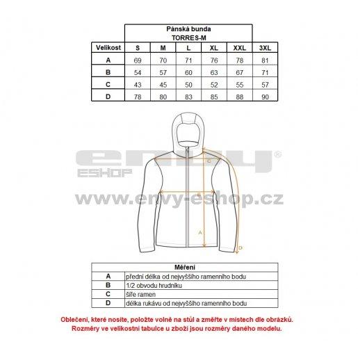 Pánská zimní bunda KILPI TORRES-M HM0055KI TMAVĚ ŠEDÁ