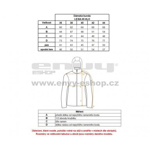 Dámská zimní bunda KILPI LESIA-W HL0108KI ČERNÁ