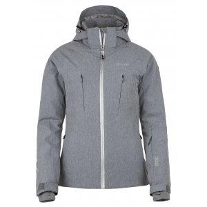 Dámská zimní bunda KILPI ADDISON-W HL0099KI SVĚTLE ŠEDÁ