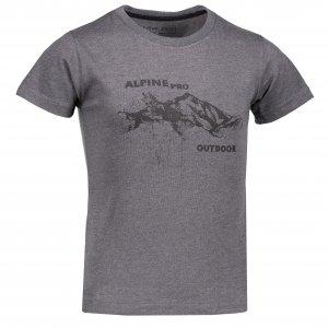 Dětské tričko s krátkým rukávem ALPINE PRO MARVO KTSL109 TMAVĚ ŠEDÁ