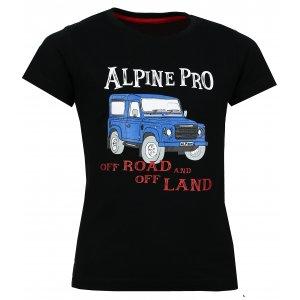 Dětské tričko s krátkým rukávem ALPINE PRO ANANO KTSL099 ČERNÁ
