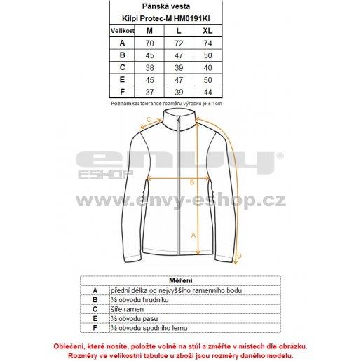 Pánská vesta s chráničem  KILPI PROTEC-M HM0191KI ČERNÁ