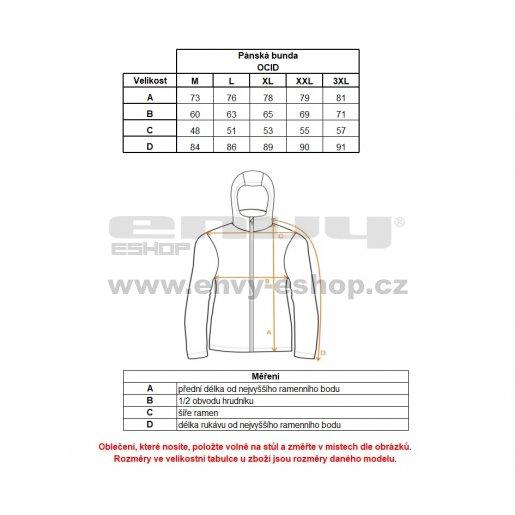 Pánská zimní bunda ALPINE PRO OCID MJCK259 ČERNÁ