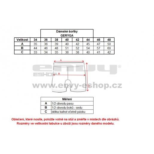 Dámské šortky ALPINE PRO GERYGA LPAL223 TMAVĚ MODRÁ