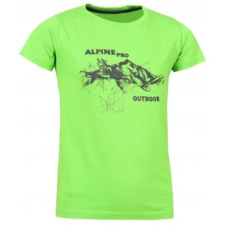 Dětské triko s krátkým rukávem ALPINE PRO DAYO KTSL098 ZELENÁ