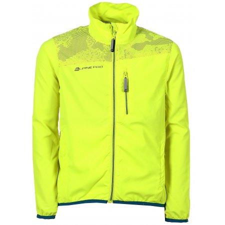 Dětská sportovní bunda ALPINE PRO MIMOCO 2 KJCL090 SVÍTIVĚ ZELENÁ