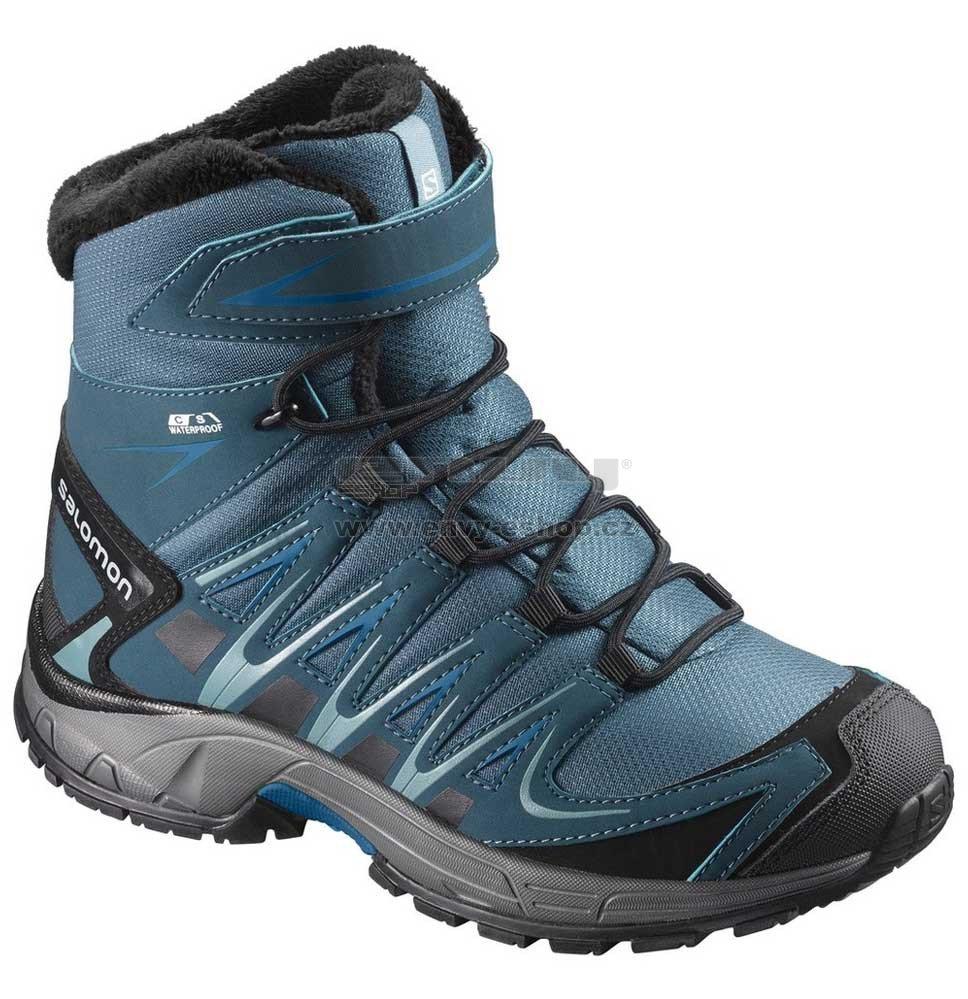 Dětské zimní boty SALOMON XA PRO 3D WINTER TS CSWP J MALLARD  BLUE REFLECTING POND c9d7d7a637