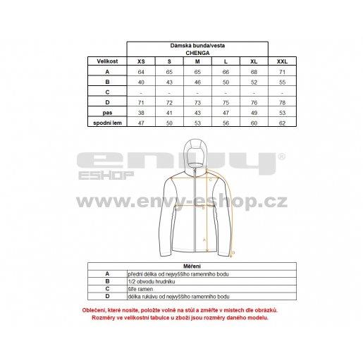 Dámská softshellová bunda/vesta ALPINE PRO CHENGA LJCL221 ČERNÁ