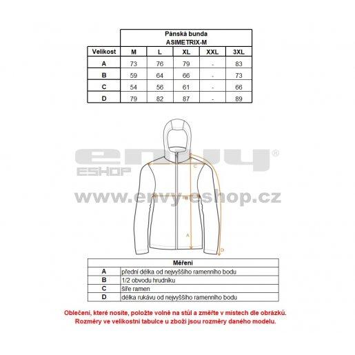 Pánská zimní bunda KILPI ASIMETRIX-M HM0120KI ČERNÁ