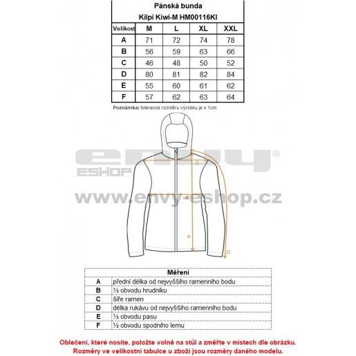 Pánská zimní bunda KILPI KIWI-M HM0116KI TMAVĚ MODRÁ