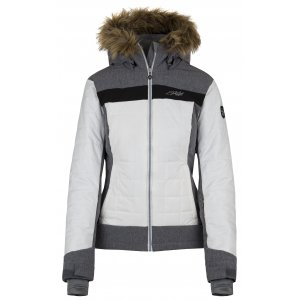 Dámská zimní bunda KILPI LEDA-W HL0003KI BÍLÁ