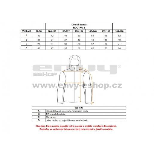 Dětská softshellová bunda ALPINE PRO NOOTKO 4 KJCL086 MODRÁ