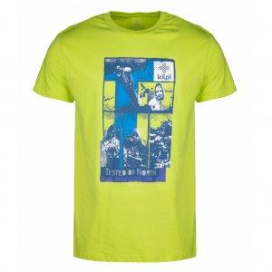 Pánské tričko s krátkým rukávem KILPI LUCKYBOY-M HM0098KI SVĚTLE ZELENÁ