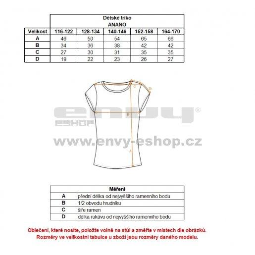 Dětské tričko s krátkým rukávem ALPINE PRO ANANO KTSL099 BÍLÁ