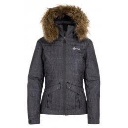 Dámská zimní bunda KILPI NAMIB-W HL0105KI TMAVĚ ŠEDÁ